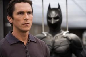 Christian Bale és a Batman jelmez